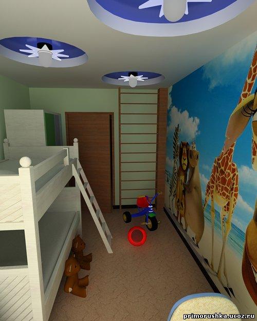 Узкая детская комната дизайн