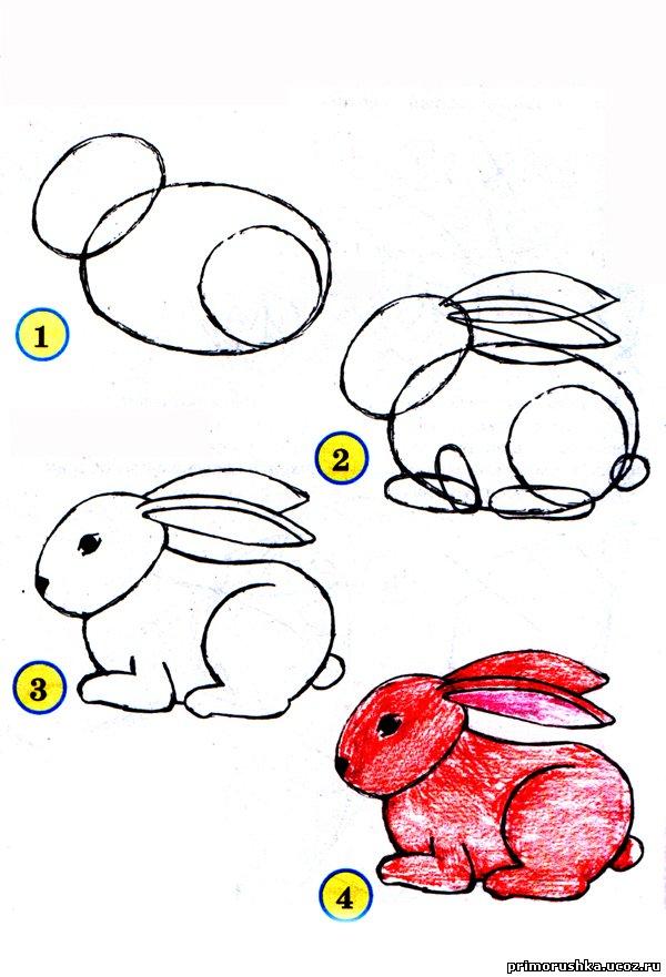 Рисовать животных для детей 4 года